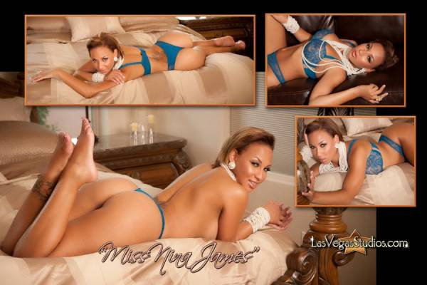 Bedroom Boudoir Photo Collage of Miss Nina James