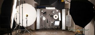 Studio Photo Showing Lights and Modifiers